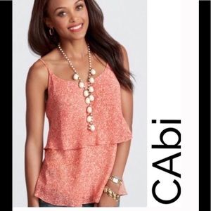 CAbi paprika tiered cami top